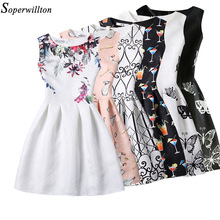 New 2017 Women Summer Dress Butterfly Sleeveless Casual Dresses Vestido De Festa Ladies vintage Print Plus Size Women's clothing
