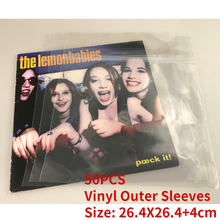 BRAND NEW 50PCS 10'' Single LP Record Vinyl Plastic Protect Bag Resealable Outer Sleeves 26.4*26.4+4cm