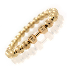 Hot Sale Men's Power Dumbbell Jewelry No Magnetic Hematite Beads with Alloy Metal Fitness Barbell Charm Bracelets