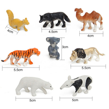 8Pcs Multi-Colored Developmental Toy Kids of Wild Animal Figures Toys Hard Plastic Kid Children Animal Model Set Action Toys Kit(China)