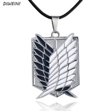 1Pcs/set Cool Good Quality Attack On Titan Survey Corps Symbol Alloy With Action Figures Necklaces For Kids Gift