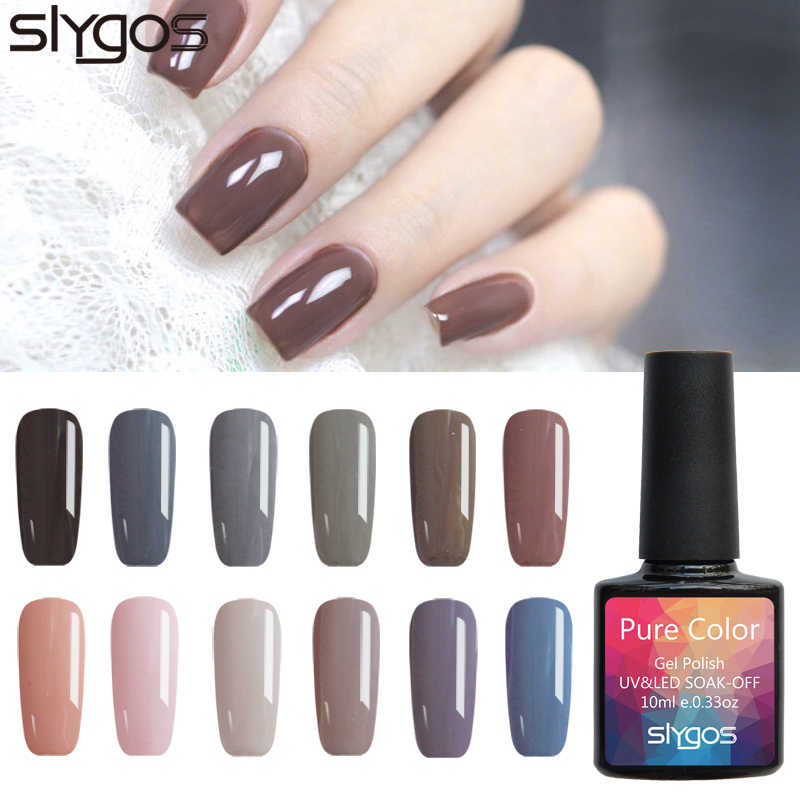 Detail Feedback Questions about SLYGOS 1pcs 10ml Soak Off UV LED Curing Nail Art Gel Polish Nail Lacquer Mani Nude Grey Colors for Autumn Winter on ...