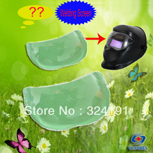 `3 pcs/lot Welding helmets LCD Filter Plastic Protective Plate , tig Mig arc Welding mask anti Sparkle splash Protector(China)