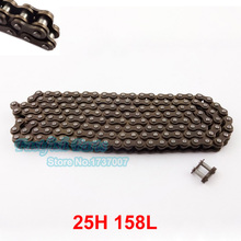 Chain 25H 158 Links with Master Link Spare For 47cc 49cc Mini Dirt Pocket Bikes Minimoto Motorcycle ATV QUAD(China)