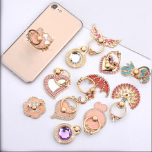 360 degree Crystal mobile phone stand holder Finger Ring Mobile Phone Smartphone Stand Holder For iPhone Xiaomi huawei all Phone