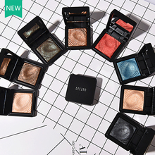 Newest Single Color Shimmer Eyeshadow Palette Party Makeup Glitter Eyes Waterproof Magic Pressed Powder Shiny Eyeshadow Palette
