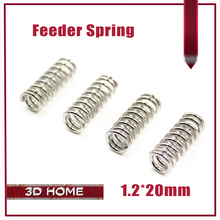 10Pcs/lot 3D Printer Accessory Feeder Spring For Ultimaker Makerbot Wade Extruder Nickel Plating 1.2mm 20mm High Quality(China)