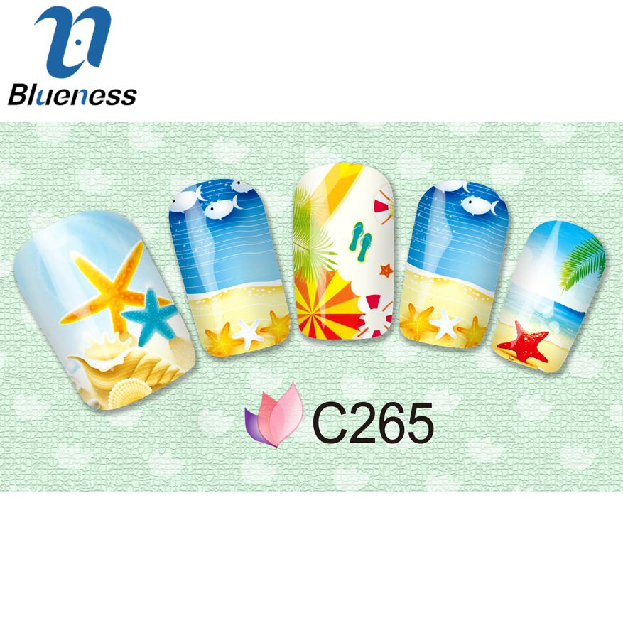 1 Pcs Summer Sticker For Nails DIY Fruit Beach Design Nail Art Stickers Full Cover Manicure Decals JH369<br><br>Aliexpress