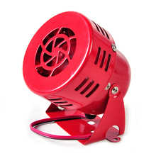 "DWCX Universal DC 12V Red 3"" Driven Air Raid Siren Horn Speaker Alarm 50's fit for Automotive Car Truck Motorcycle Yacht Boat(China)"