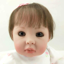 Fake Baby Silicone Cotton Body Doll Reborn Babies Soft Interactive Chinese Dolls Body Alive Surprise Princess Doll for Girl Sale(China)