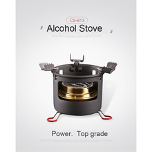 ALOCS Outdoor Alcohol Burn Stove Camping Stove With Stand Folding Picnic Outdoor Stove Camping Cookware Survival Tools(China)
