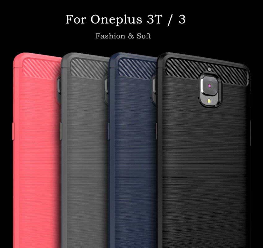 OnePlus 3t Case Oneplus 3 Cover Soft Silicone WolfRule Brushed Style Case For Oneplus 3T Cover One plus 3 Three Phone Bag(China)