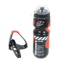 Essential Portable Outdoor 650ML Mountain Bike MTB Bicycle Cycling Sports Water Bottle With Plastic Glass Fiber Holder Cage Rack(China)
