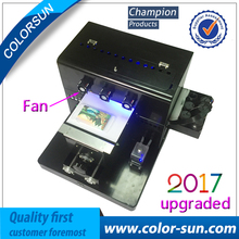 A4 size UV LED flatbed Printer &Ceramic UV flatbed machine with emboss effect for Phone Case Printer, wooden, leather, ABS,TPU,