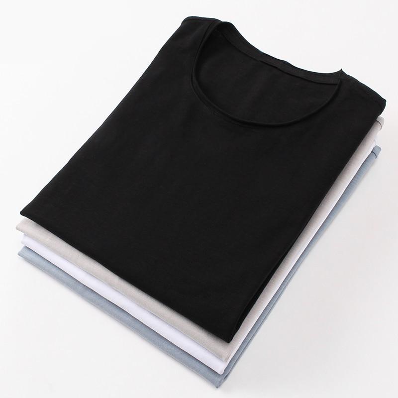 Bamboo cotton men's long sleeve t-shirt msn All Match O Neck Casual T-Shirts Base Tees spring autumn Korean bottoming shirt men (13)
