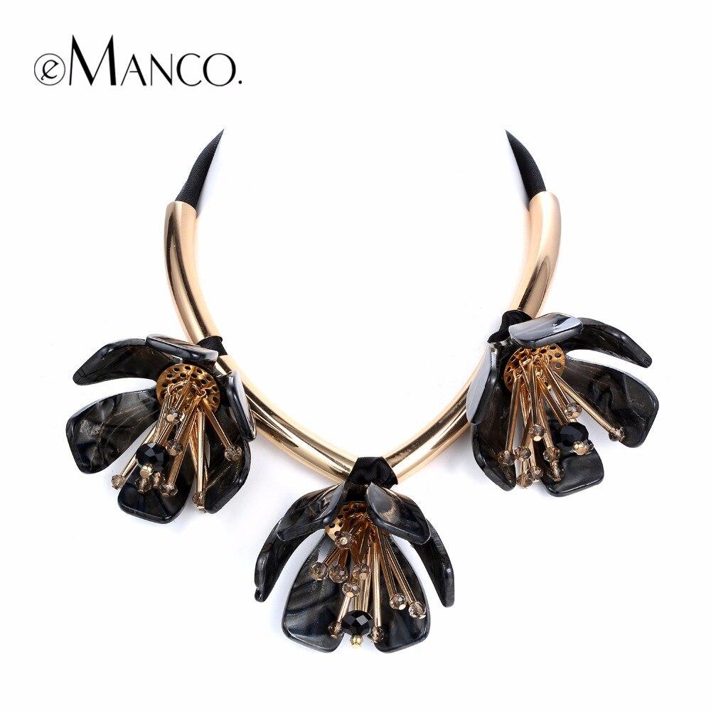 Emanco Trending Now Flowers Choker Necklaces & Pendants Women Rhinestone  Black Ribbon Adjustable Brand Jewelry Accessories