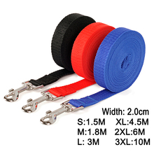 Nylon Dog Training Leashes Pet Supplies Walking Harness Collar Leader Rope For Dogs Cat 1.5M 1.8M 3M 4.5M 6M 10M(China)