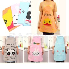 Free Shipping Hot Cute Cartoon Girls Women Kitchen Cooking Dress Apron Waterproof Oleophobic