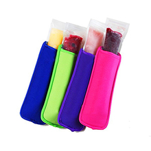 Promotion DHL 1000pcs/lot  Popsicle Holders Pop Ice Sleeves Freezer Pop Holders 21 Colors for Kids 8x16cm