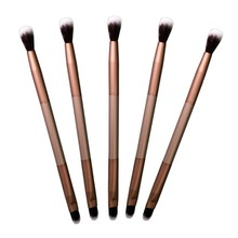 5pcs/lot Doubled Ended Eyeshadow Brushes Eyelashes Blush Elegant Bleached Mental Eye Shadow Brush Makeup Cosmetic Brushes Tools
