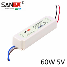 Waterproof AC100-240V Hot Sale 5V 12A 60W Switch Power Supply Slim Thin Waterproof Al Driver for LED Strip Light Display Module(China)