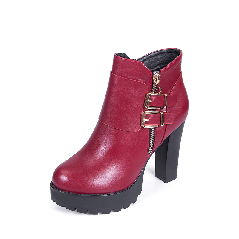 2016 New Fashion Winter Slope With Short Tube Female Martin Boots Female Fashion Boots Cotton Boots<br><br>Aliexpress