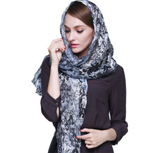 180*53cm Italy Imported Jacquard Scarf Fashion Satin Long Scarf Flower Print Long Scarves Hand Rolled Pashmina B-5763