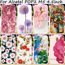 Hard Plastic Mobile Phone Cases For Alcatel OneTouch Pop 2 M5 5042 4.5 inch 5042X 5042D 5042A 5042W 5042E Cover Bags Housings