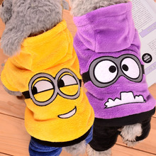 Warm Winter Pet Dog Clothes Fleece Minions Costume Cute Pets Hoodie Coat Jacket Autumn Clothing for Puppy Dogs 39