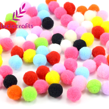 Lucia Crafts 500-1000pcs/lot 8mm Mixed Soft Round Shaped Pompom Balls Fluffy Pom Pom For Kids DIY Garment Handcraft 22010038(China)