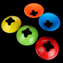 1 PC Football Ball Rugby Sport Cross Training Space Marker Soccer Disc Cone Soccer Ball Accessories Blue/Red/Gree/Orange/Yellow