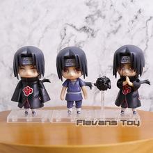 Naruto Shippuden Uchiha Itachi Q Version Nendoroid Dolls PVC Action Figures Collectible Model Toys 3pcs/set