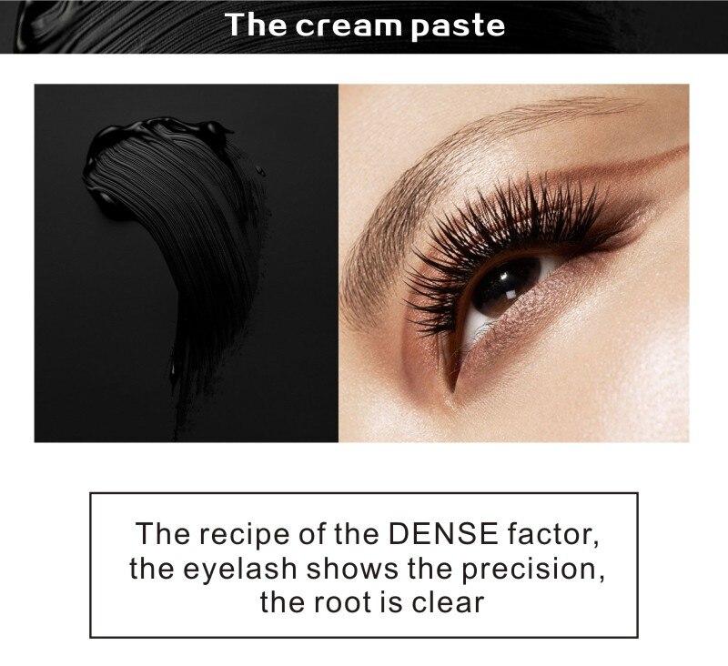 MRC Waterproof 3D Curling Mascara Long Black Volume Eyelashes Extension Brush Makeup Mascara (4)