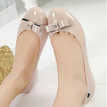 Summer shallow mouth shoes boots Korean fashion ladies slip Duantong low candy colored jelly sandals rubber rain boots