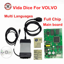 For Volvo Vida Dice 2014D Newest Version Professional Car Diagnostic Tool Dice Pro Full Chip Green Board Free Shipping