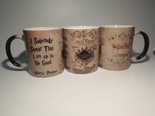 hogwarts mugs marauders map mugs coffee Tea art Heat reveal magic Mug Gryffindor Hufflepuff Ravenclaw Slytherin Mugen(China)