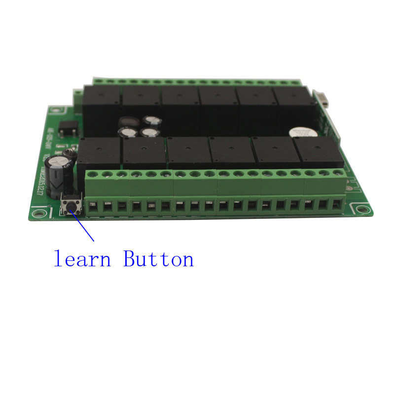 12CH 12V Remote Control Switch Relay Wireless Remote Switch 12 Channel Relay Module 12V 315MHz 433MHz Learn Code (5)