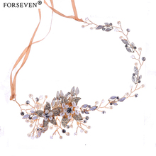 Buy Trendy Crystal Pearl Flower Bridal Headband Handmade Tiara Headdress Gold&Silver Wedding Hair Jewelry Accessories for $7.74 in AliExpress store