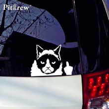 1PC 11*16cm 2018 New Design Car stickers Grumpy Cat The Bad cat fashion cars motorcycles decal styling accessories decoration(China)