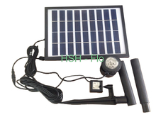 5W 280L/H Solar Fountain Solar Water Pump+ Battery + LED Light for Garden Decoration