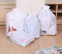 Vacuum Bag Organizadores Cute Small Animal Double Layers Waterproof Drawstring Storage Large Size Underwear Organizer Pouch Wz