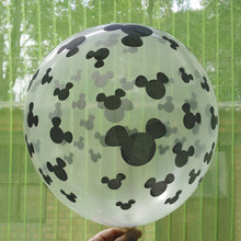 12inch 2.8g Mickey mouse balloon latex round black balloon printed balloon birthday wedding kids toys free shipping100 pcs/lot