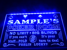 DZ005- Name Personalized Custom Poker Casino Room Beer Bar Neon Sign   hang sign home decor  crafts