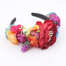 Festival Party Princess Wedding Party Holiday Flower crown hair accessories girl headbands(China)