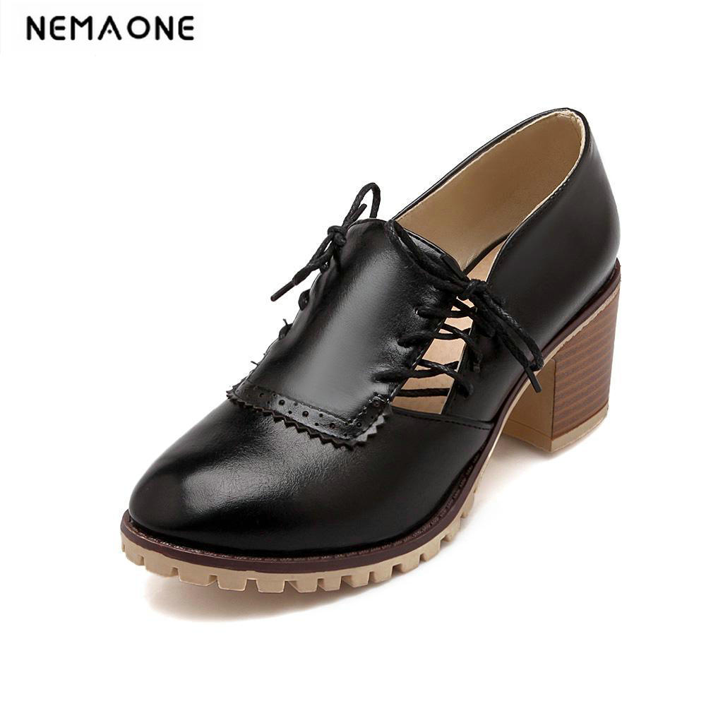2018 spring autumn fashion women pumps thick high heels shoes woman rouned toe women shoes office lady dress shoes<br>