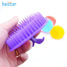 New Brand HAICAR 1PC Silicone Shampoo Scalp Shower Body Washing Hair Massage Massager Brush Comb Tools Pretty High Quality