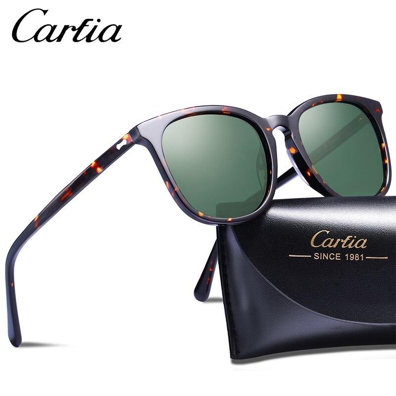 757f29400 Carfia Clássico Retro Óculos De Sol Das Mulheres Dos Homens de Moda Oval Polarizada  óculos de