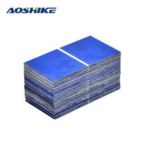 Aoshike 100Pc Solar Panel Sun Cell Sunpower Solar Cell Polycrystalline Photovoltaic DIY Solar Battery Charger 0.5V 0.2W 52*26mm(China)