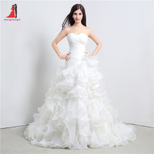 Buy Stock Mermaid Wedding Dresses Sweetheart Cascading Ruffles Cheap Vestido De Novia 100 Court Train Bridal Gowns Dress for $110.41 in AliExpress store