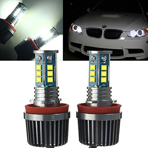 2x H8 120W CREE Chip LED Halo Headlight Bulbs 6500K Angel Eyes DRL for BMW E60 E61 E70 E87 E90 E92 E93 X5 (2 Pack)<br><br>Aliexpress